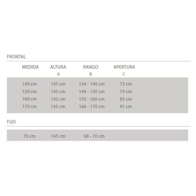 ○ Perfil superior y inferior en aluminio lacado blanco