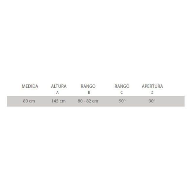 ○ Material: Cristal de 5 mm serigrafiado o transparente