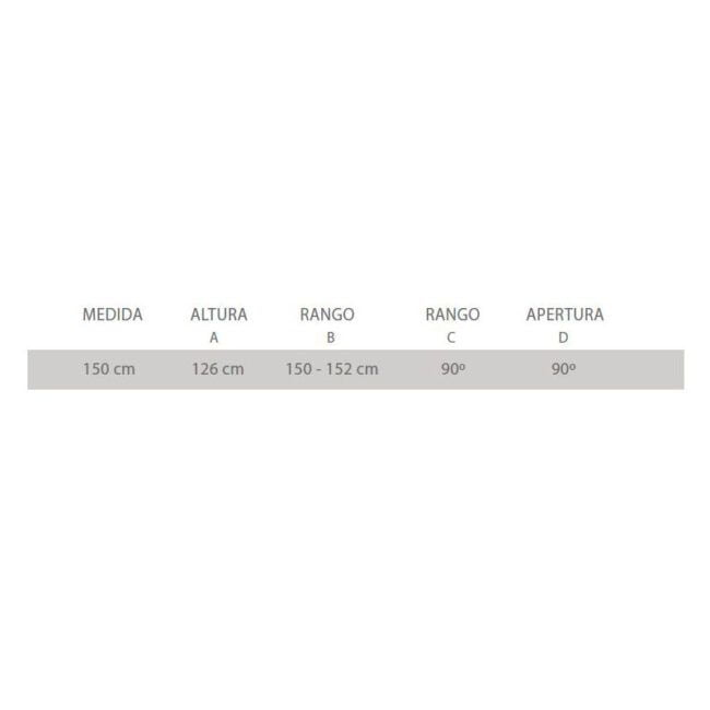 ○ Compuesta por 1 Hoja fija + 1 Hoja abatible