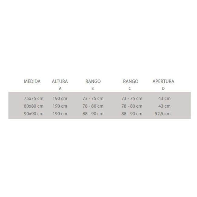 •  Compuesta por 2 Hojas fijas + 2 Hojas correderas