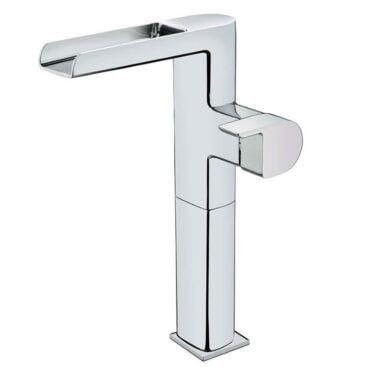 Monomando tipo cascada para lavabo grifo con ca/ño de cristal grifo de alto