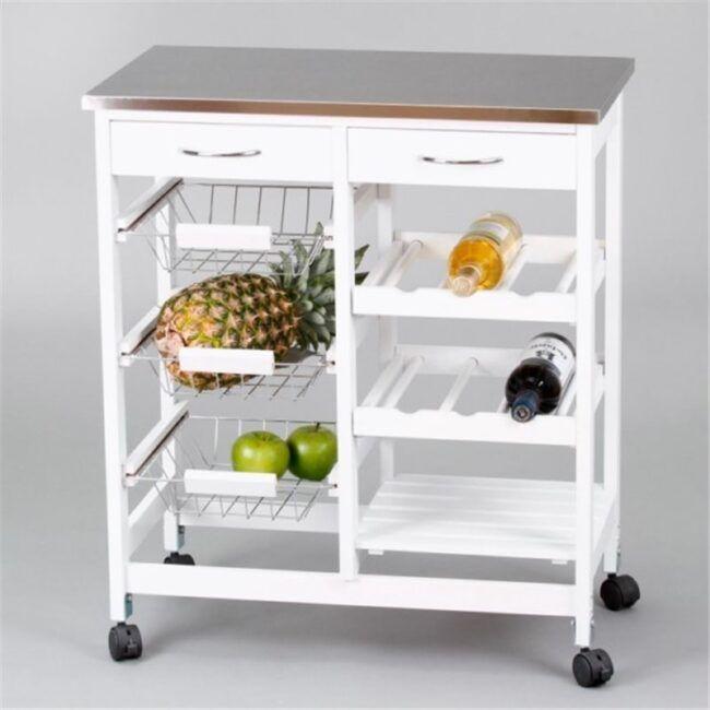 Carro de cocina completo inox IBERODEPOT