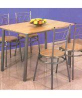 Conjunto anillo de mesa de cocina y 4 sillas IBERODEPOT