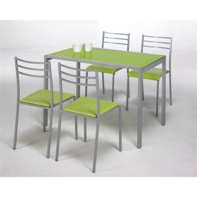 Conjunto mesa de cocina y 4 sillas Adelia IBERODEPOT