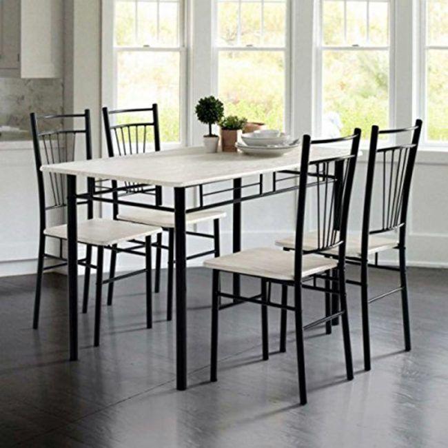 Conjunto mesa de cocina y 4 sillas oferta IBERODEPOT