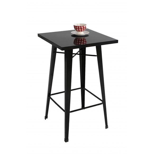 Mesa taburete alta negra IBERODEPOT