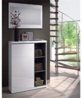 Mueble de recibidor zapatero con espejo IBERODEPOT