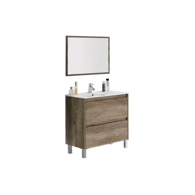 Mueble lavabo con espejo kit IBERODEPOT