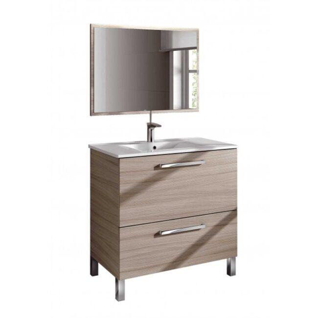 Mueble lavabo con espejo Nature IBERODEPOT
