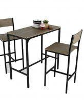 Set de mesa y 2 taburetes altos IBERODEPOT
