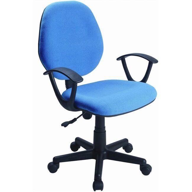 Silla de escritorio reposabrazos azul IBERODEPOT