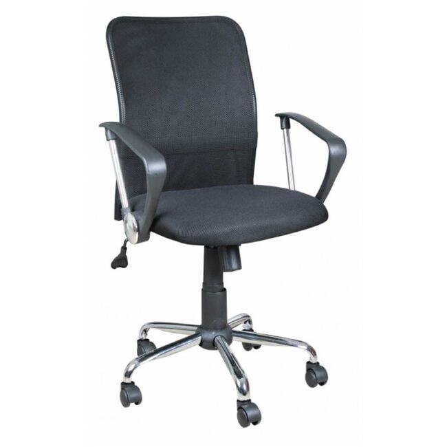 Silla de escritorio transpirable negra IBERODEPOT