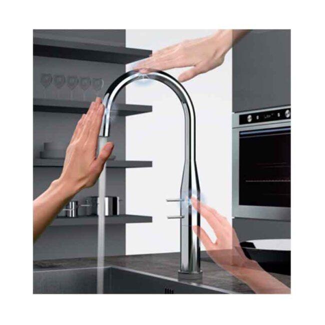 Grifo de cocina touch me manual o electrónico TEGLER