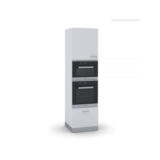 Columna horno y microondas con puerta y gaveta TEGLER