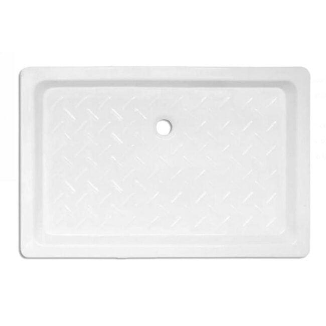 Plato de ducha Cerámico rectangular con relieve 100x80 TEGLER