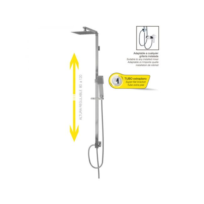 Columna de ducha Cuadrado grifería universal TEGLER