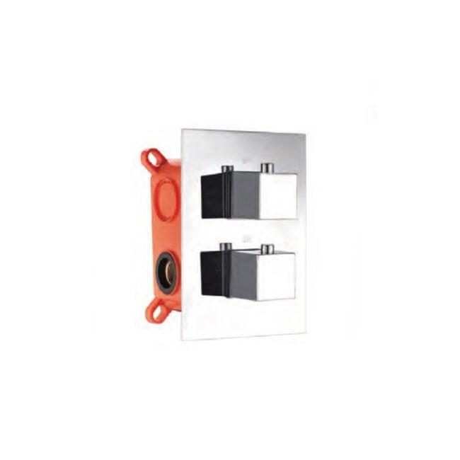 Grifo de ducha termostático empotrado cuadrado Imex