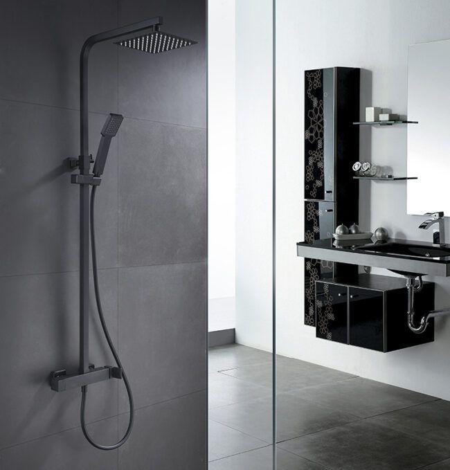 Sistema de ducha Fiyi Negro Imex